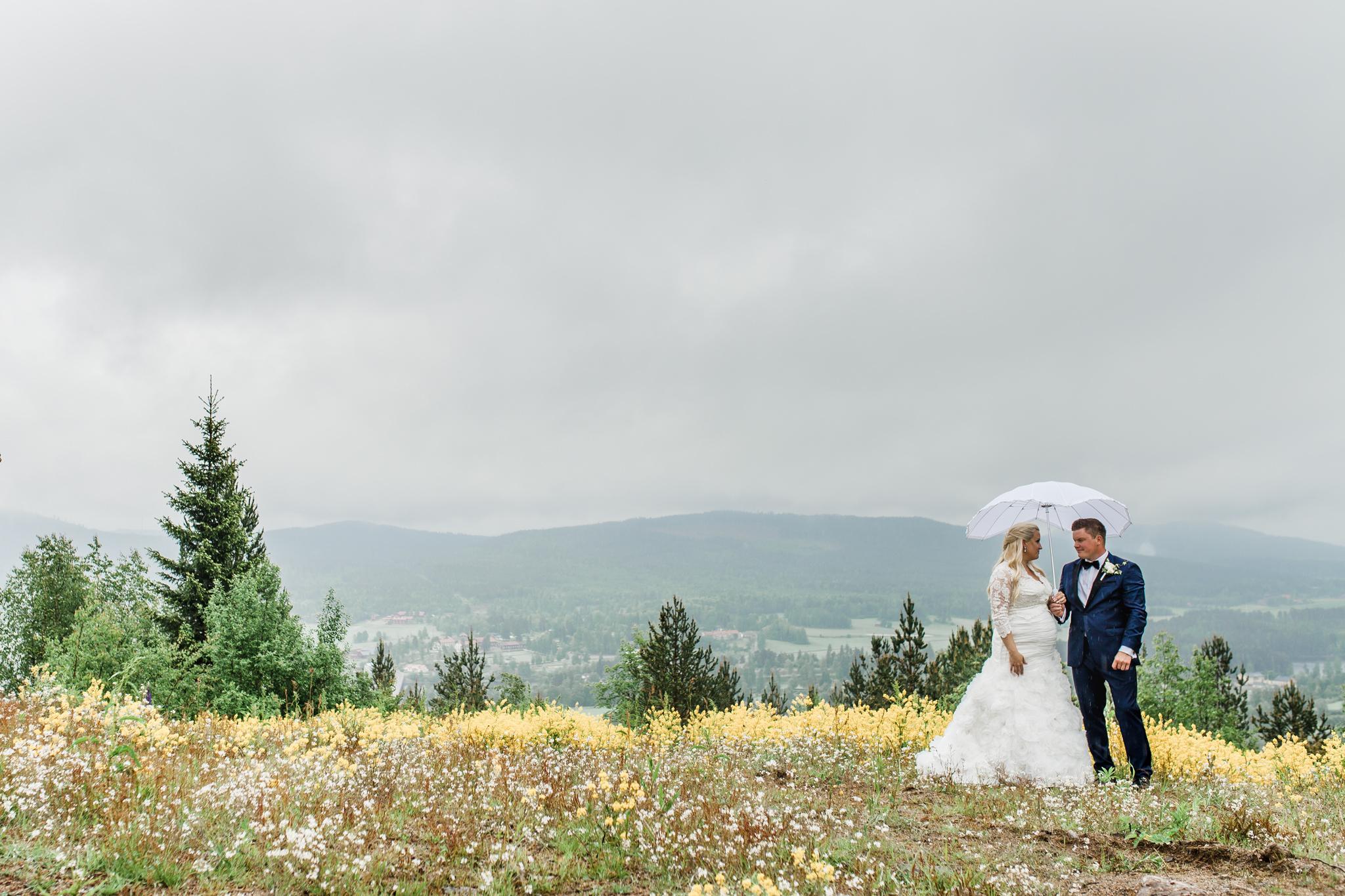 Bröllopsfotografering i Järvsö på Järvsöbacken