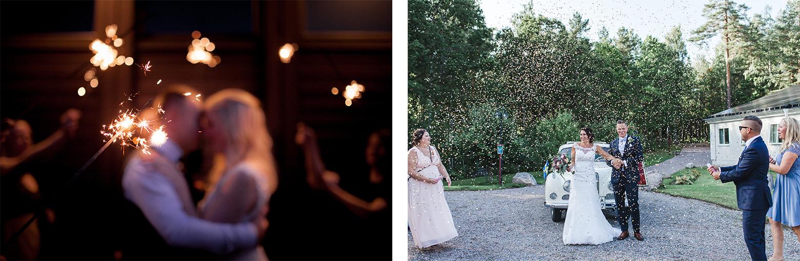 Bröllopsfotograf i Jönköping tomtebloss porträtt