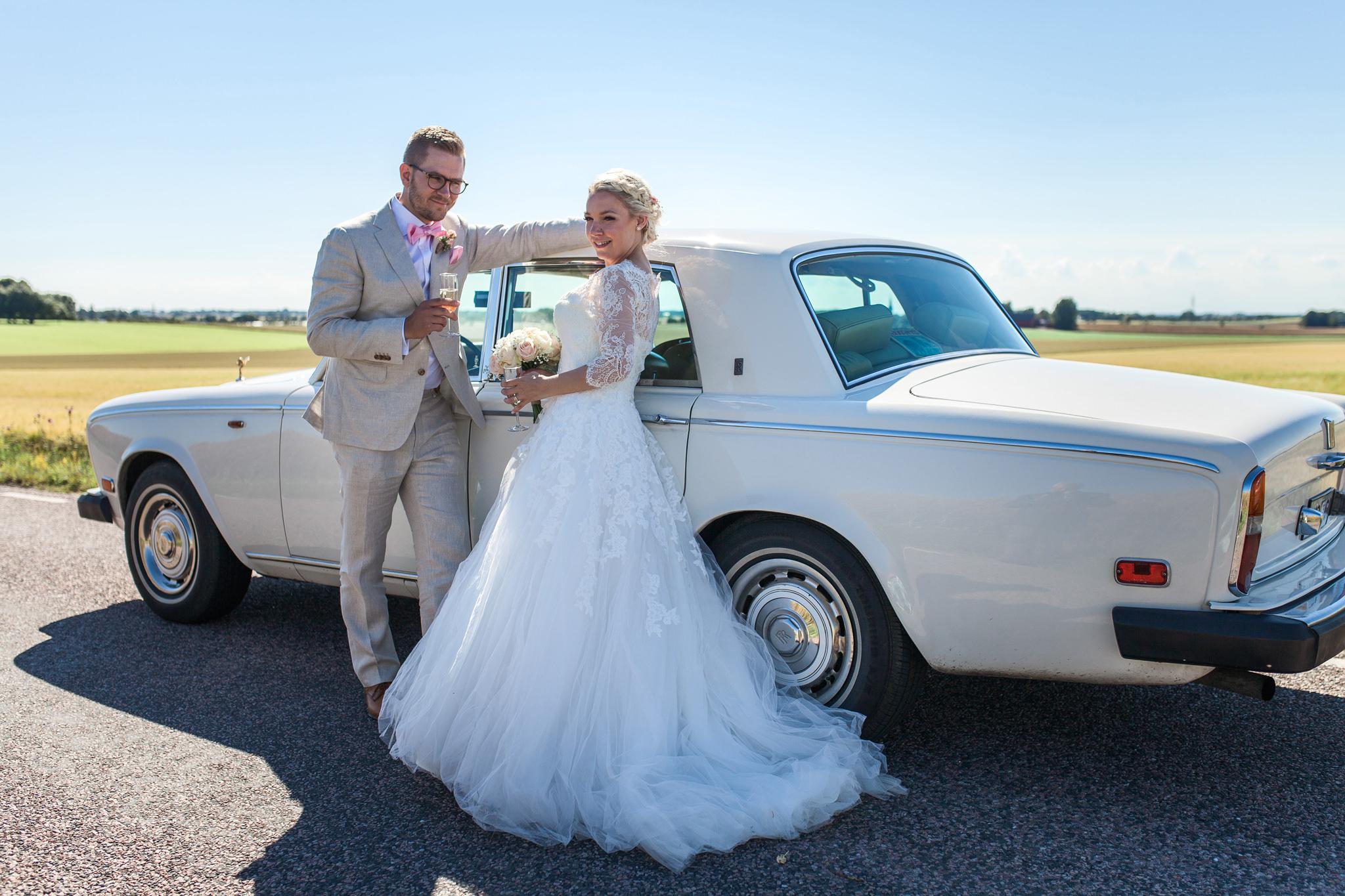 Bröllopsfotografering i Skåne vid Holmanäs gård