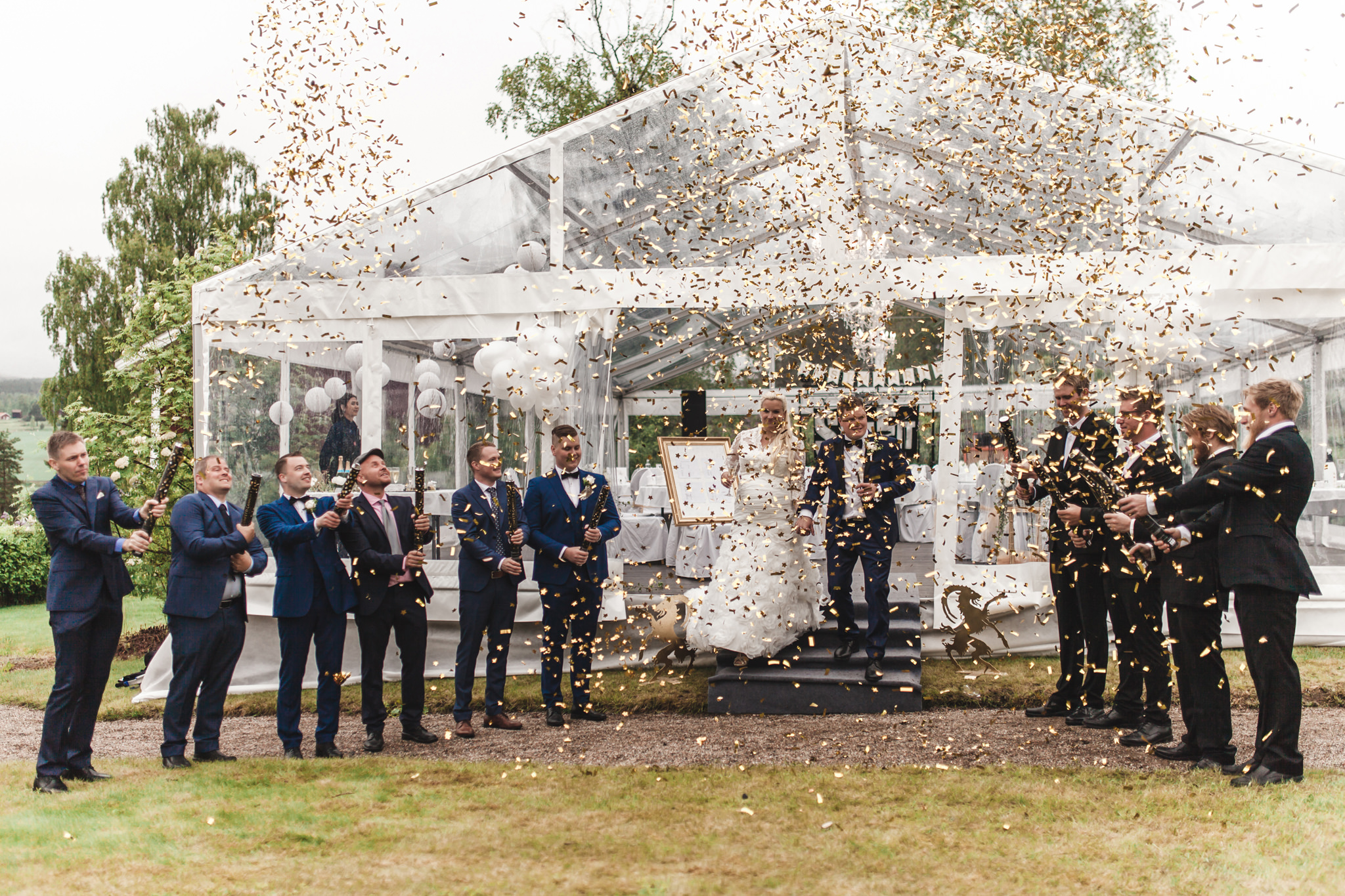 Bröllop i alltid soliga Järvsö