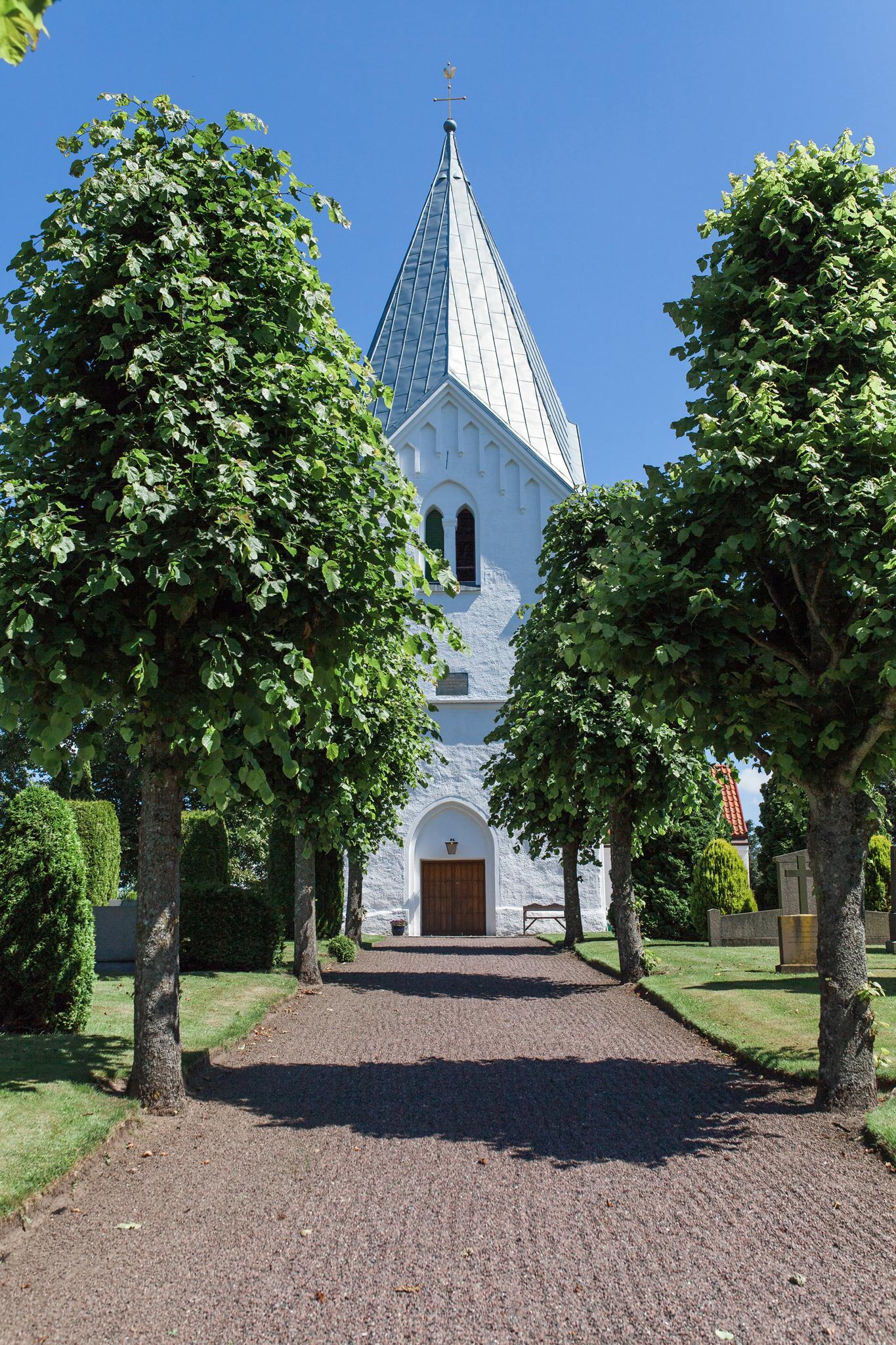 Bröllop i Västra Ingelstad kyrka och fest på Holmanäs gård i Skåne