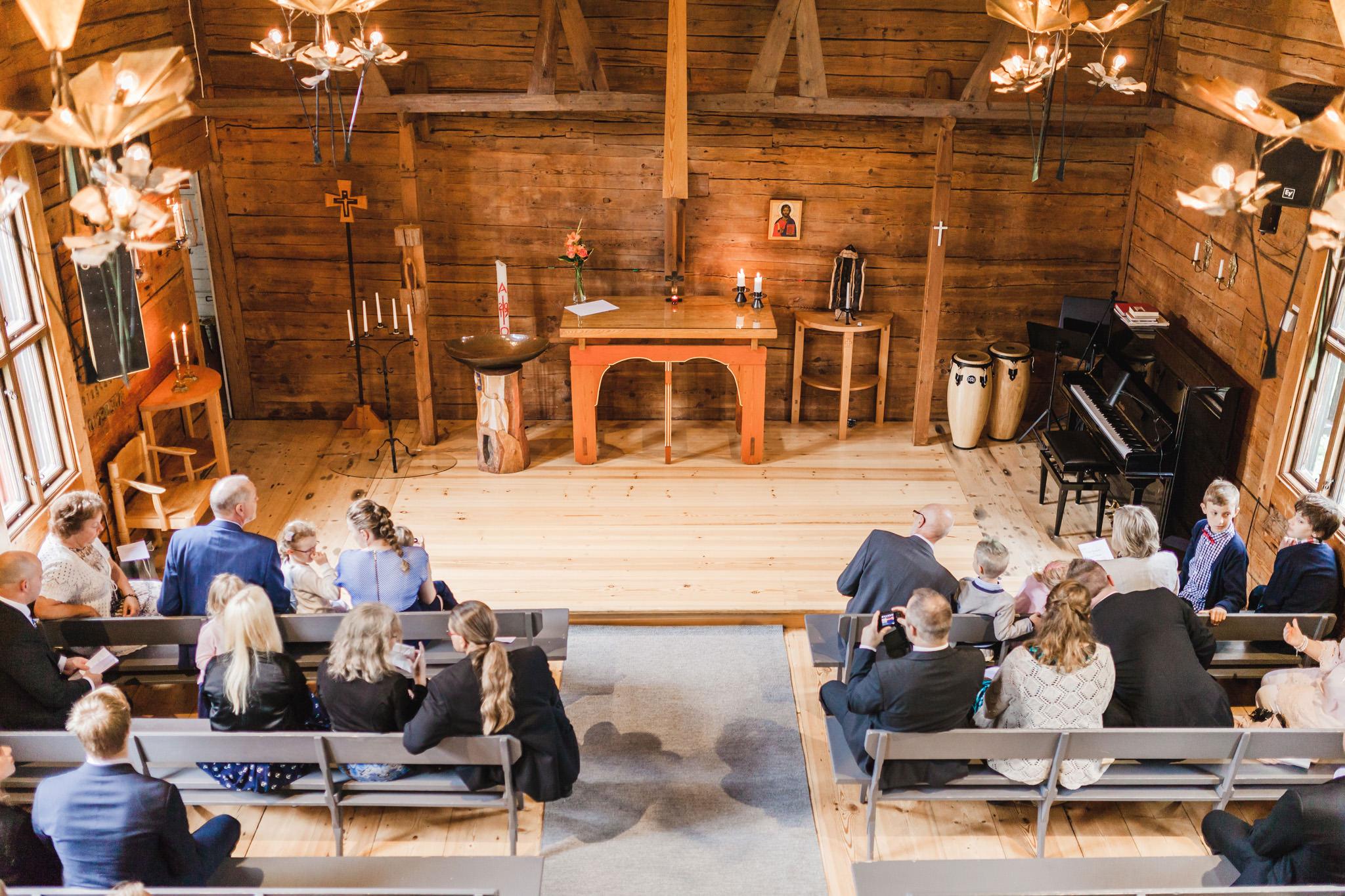 Vigsel i St Sigfrids kapell i Kronoberg Växjö