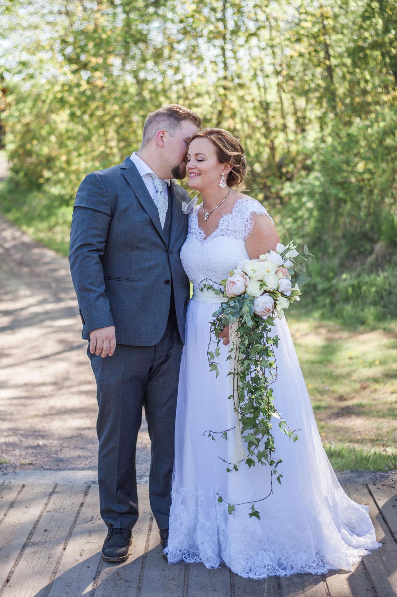 Bröllopsporträtt vid Slattefors Magasin i Linköping