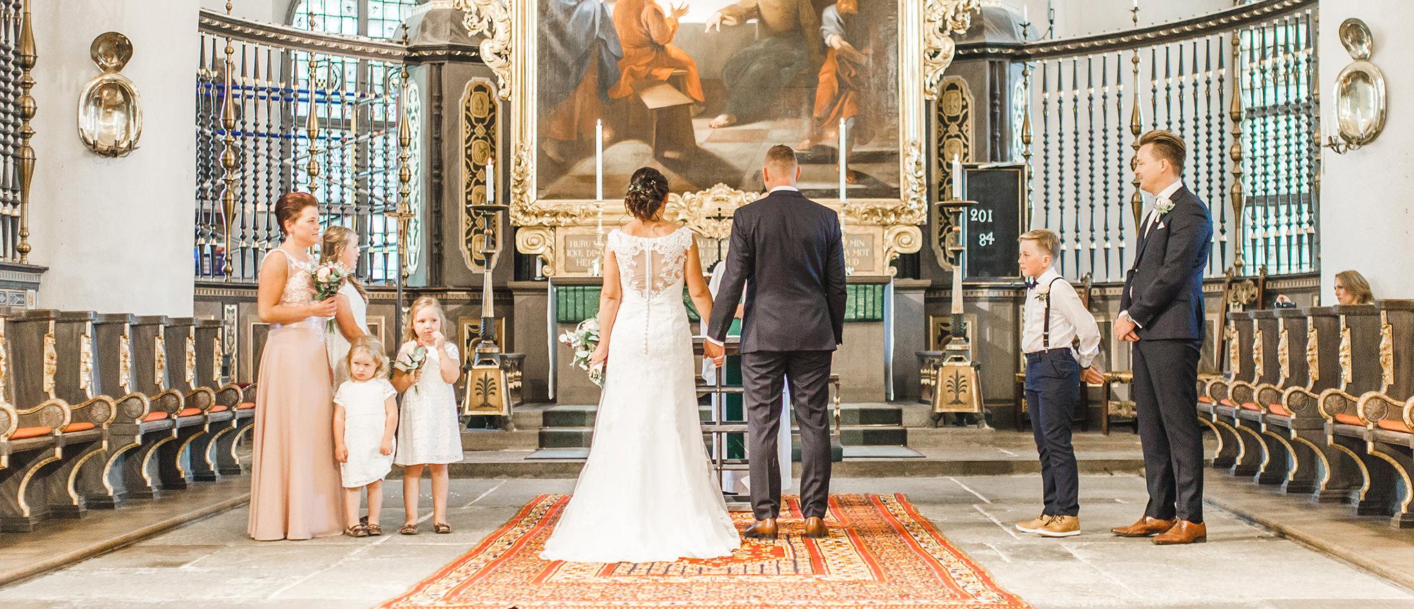 Bröllopsfotografering vigsel