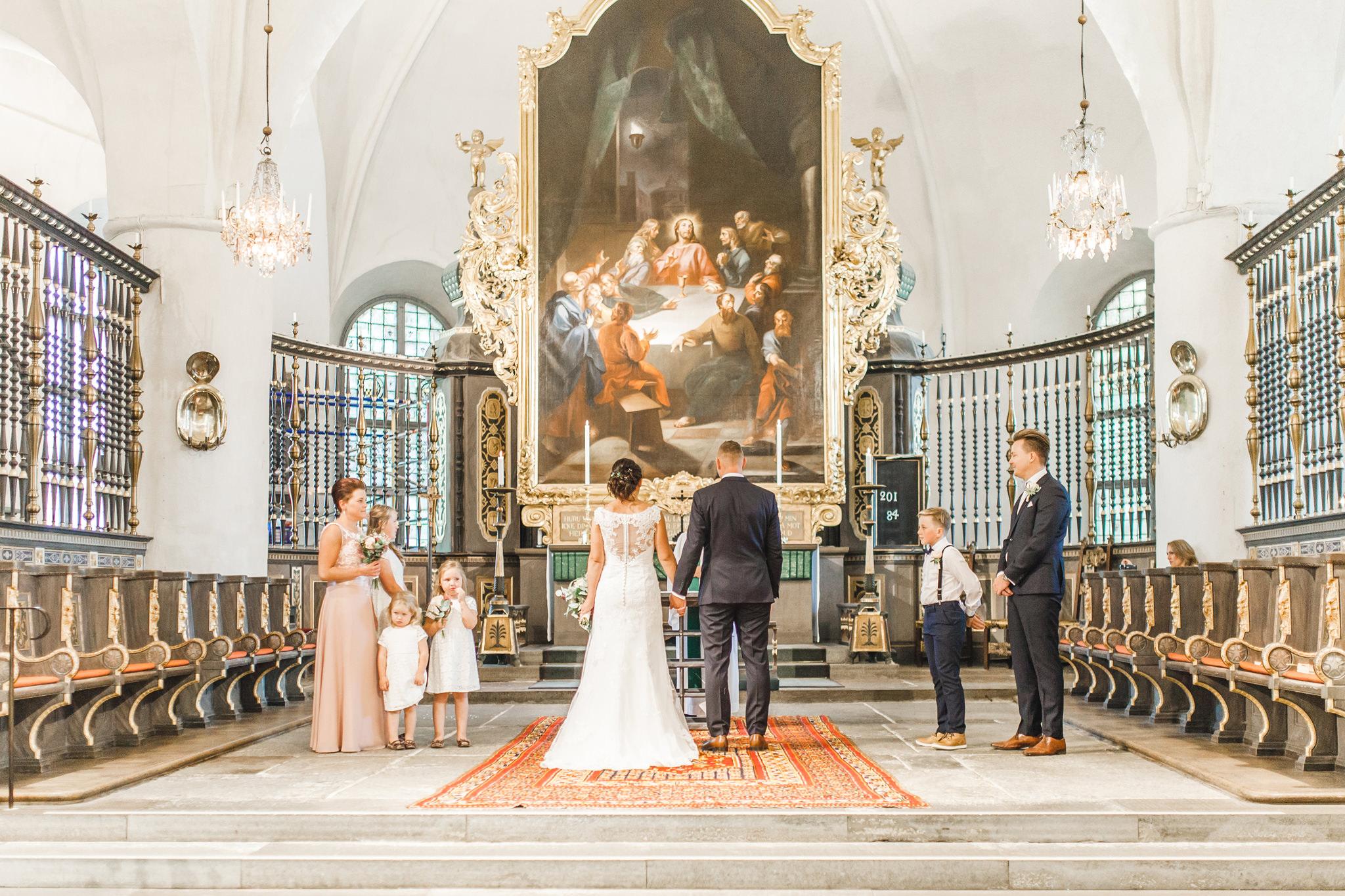 Vigsel i St Nikolai kyrka i Nyköping