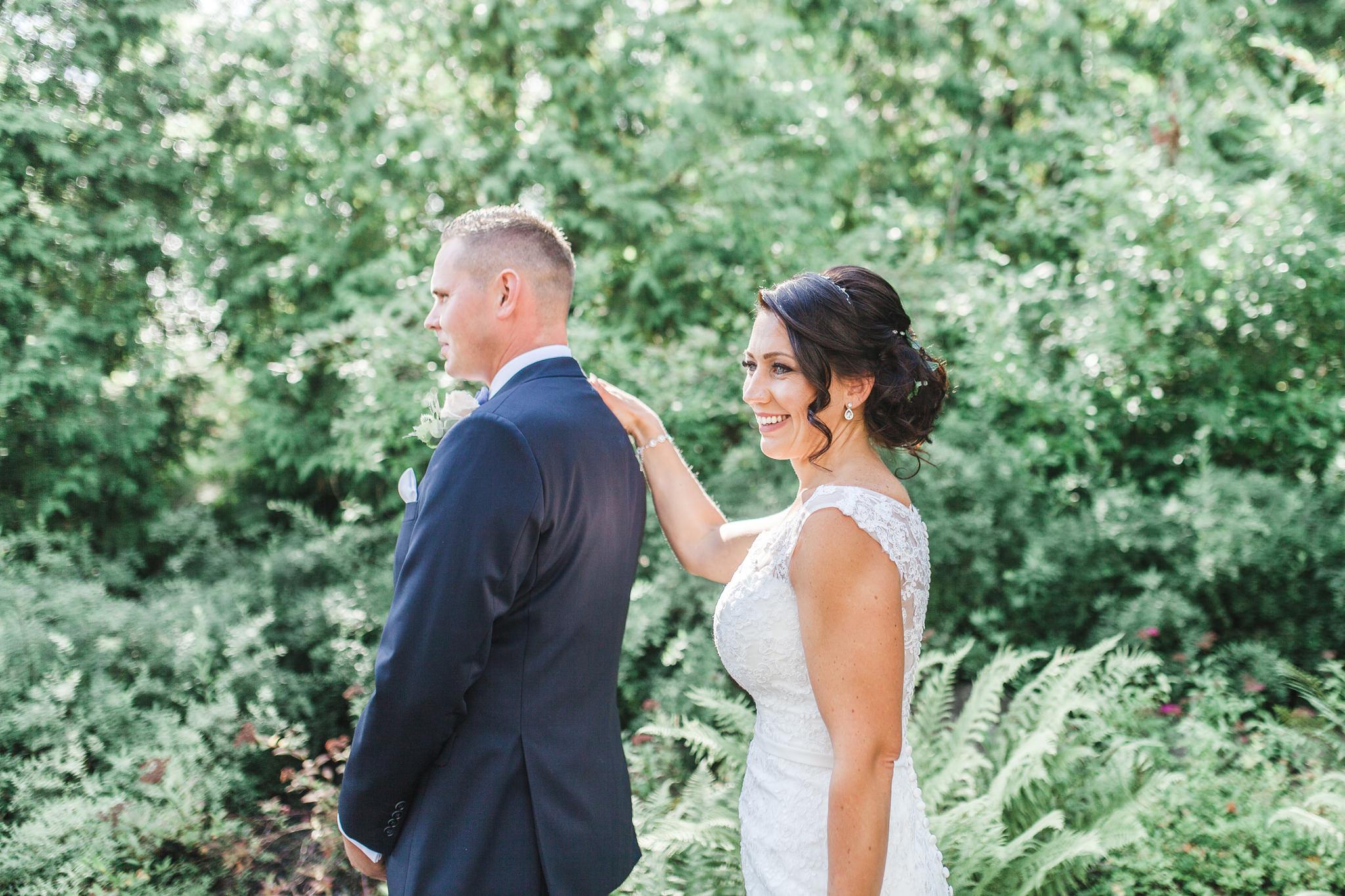 First look vid bröllop på Blommenhof hotell