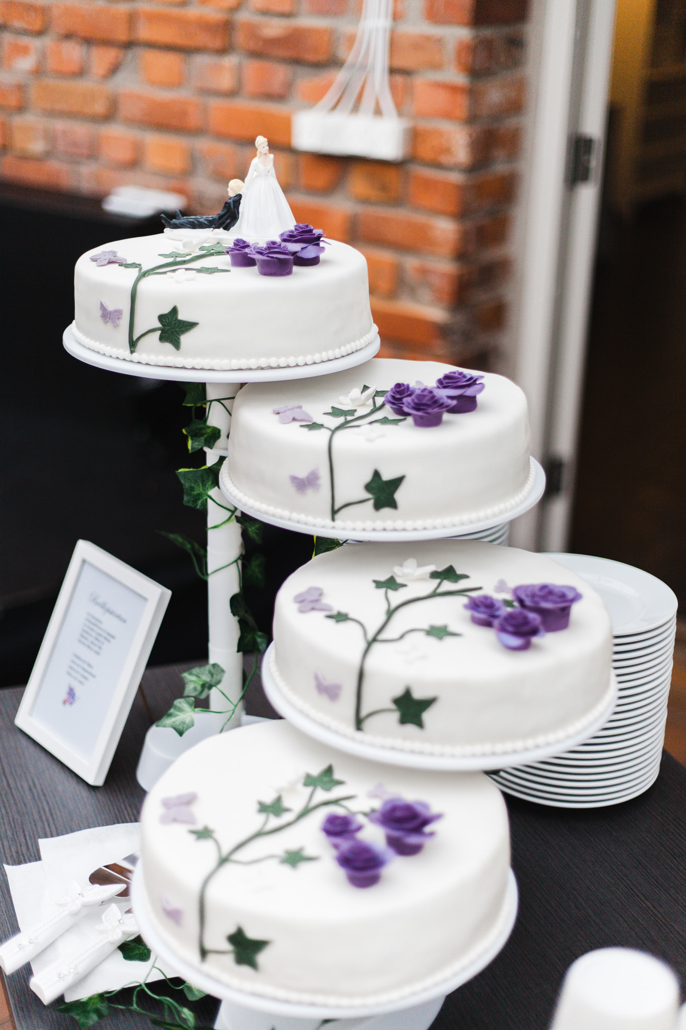 Bröllopstårta på Rosängen orangeri i Örebro
