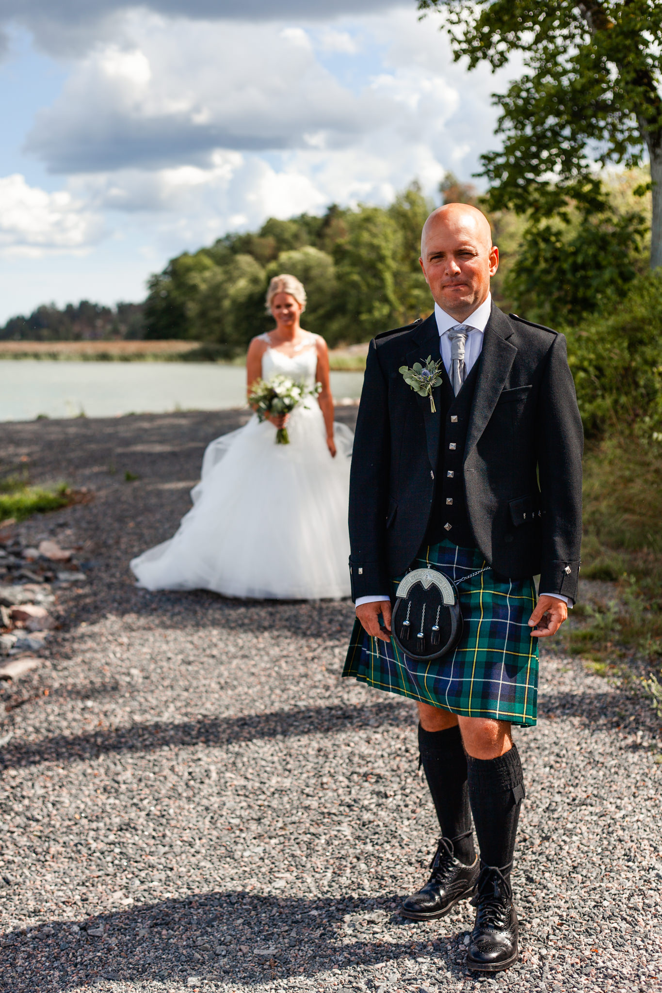 Skotskt bröllop på Mauritzberg Slott Vikbolandet
