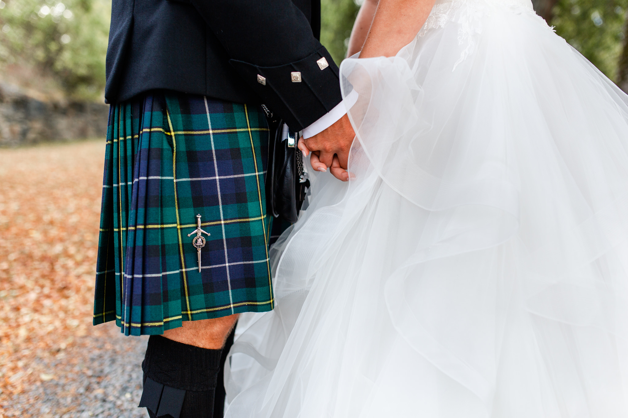 Scottish wedding at Mauritzberg Castle at Vikbolandet
