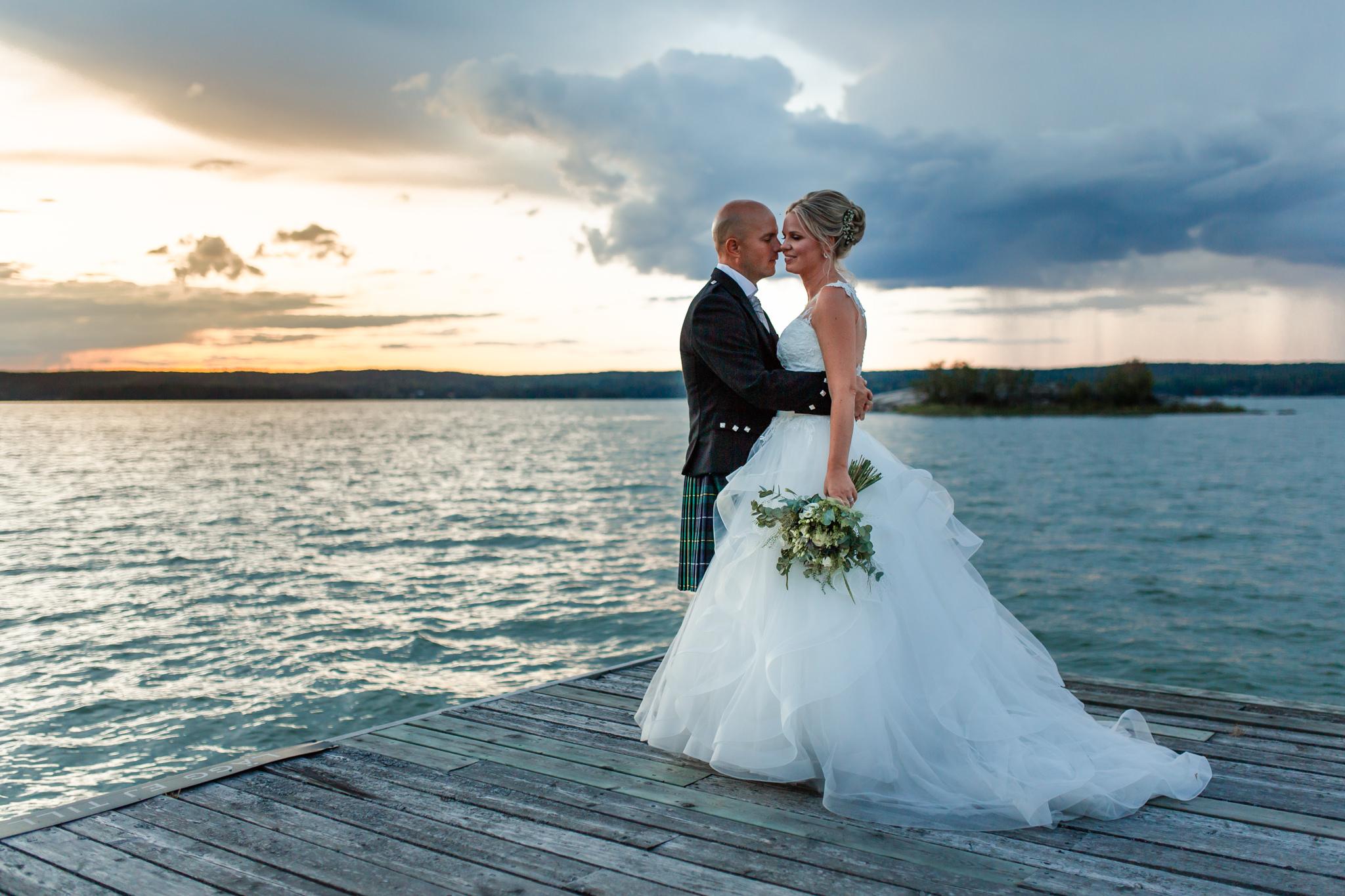 Scottish wedding at Mauritzberg Castle at Vikbolandet