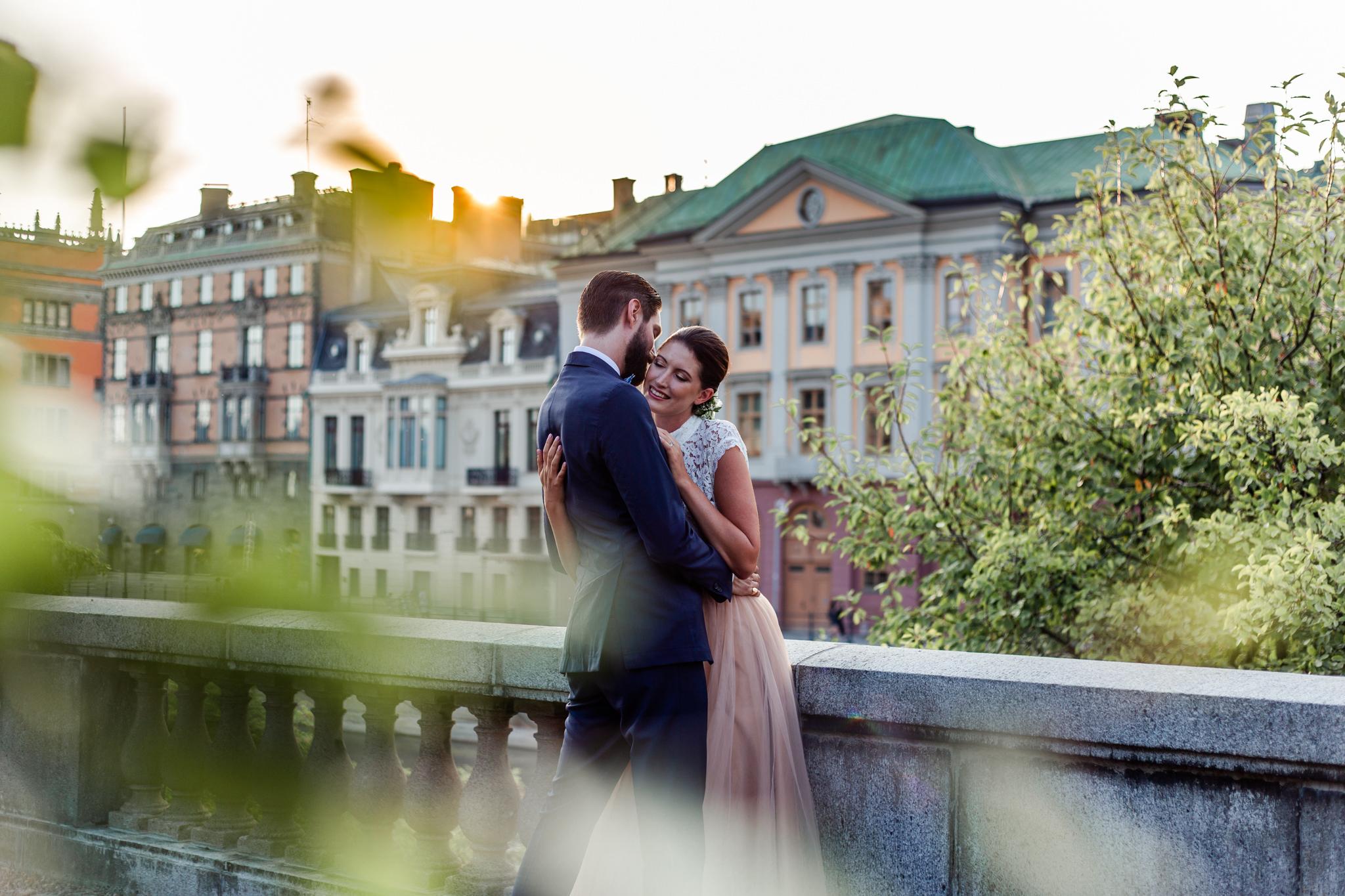 Stylat brudpar i Stockholm i sammarbete med Sisters in Law och Malin Norlen