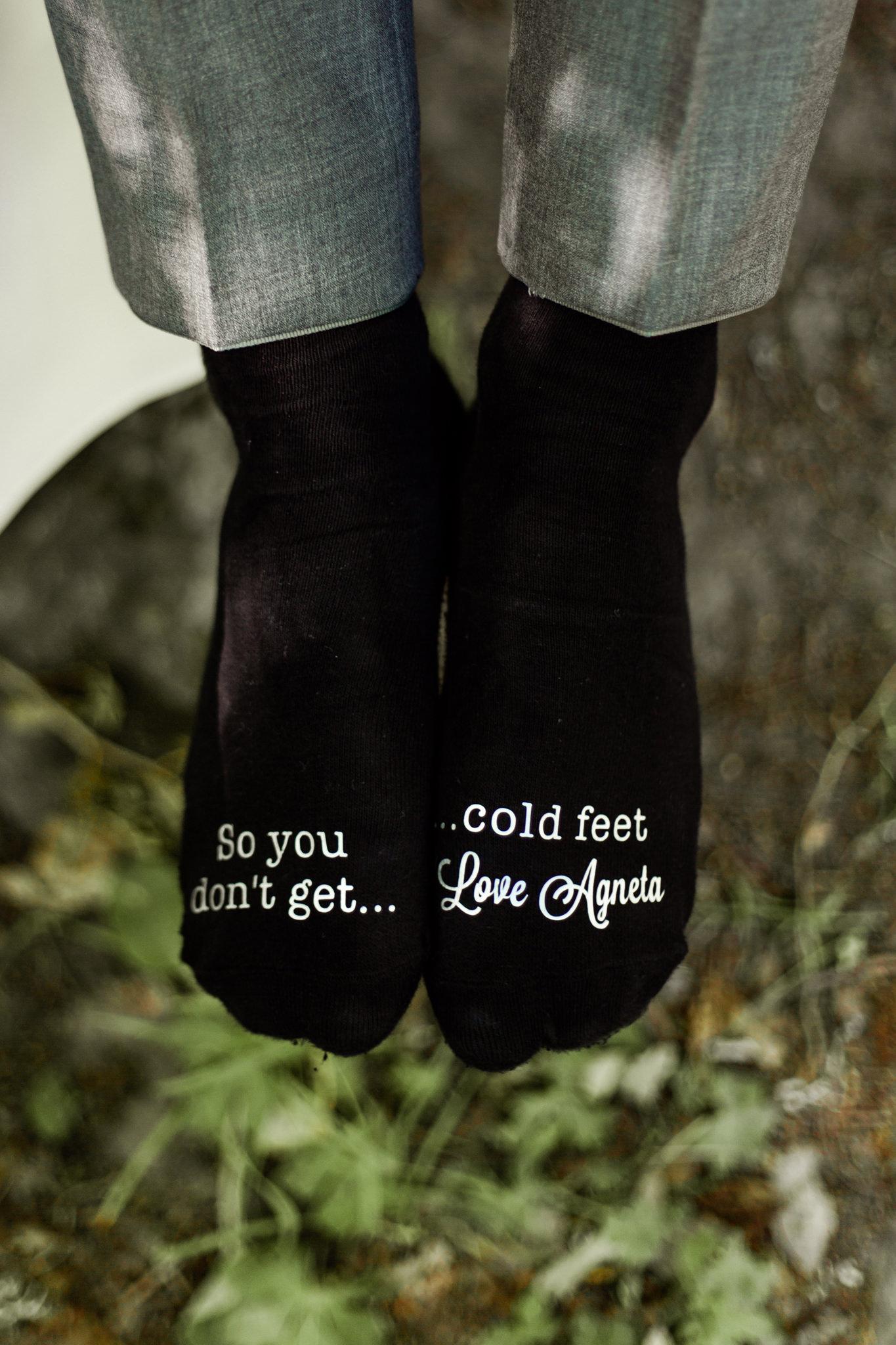 Bröllopsstrumpor so you don't get cold feet