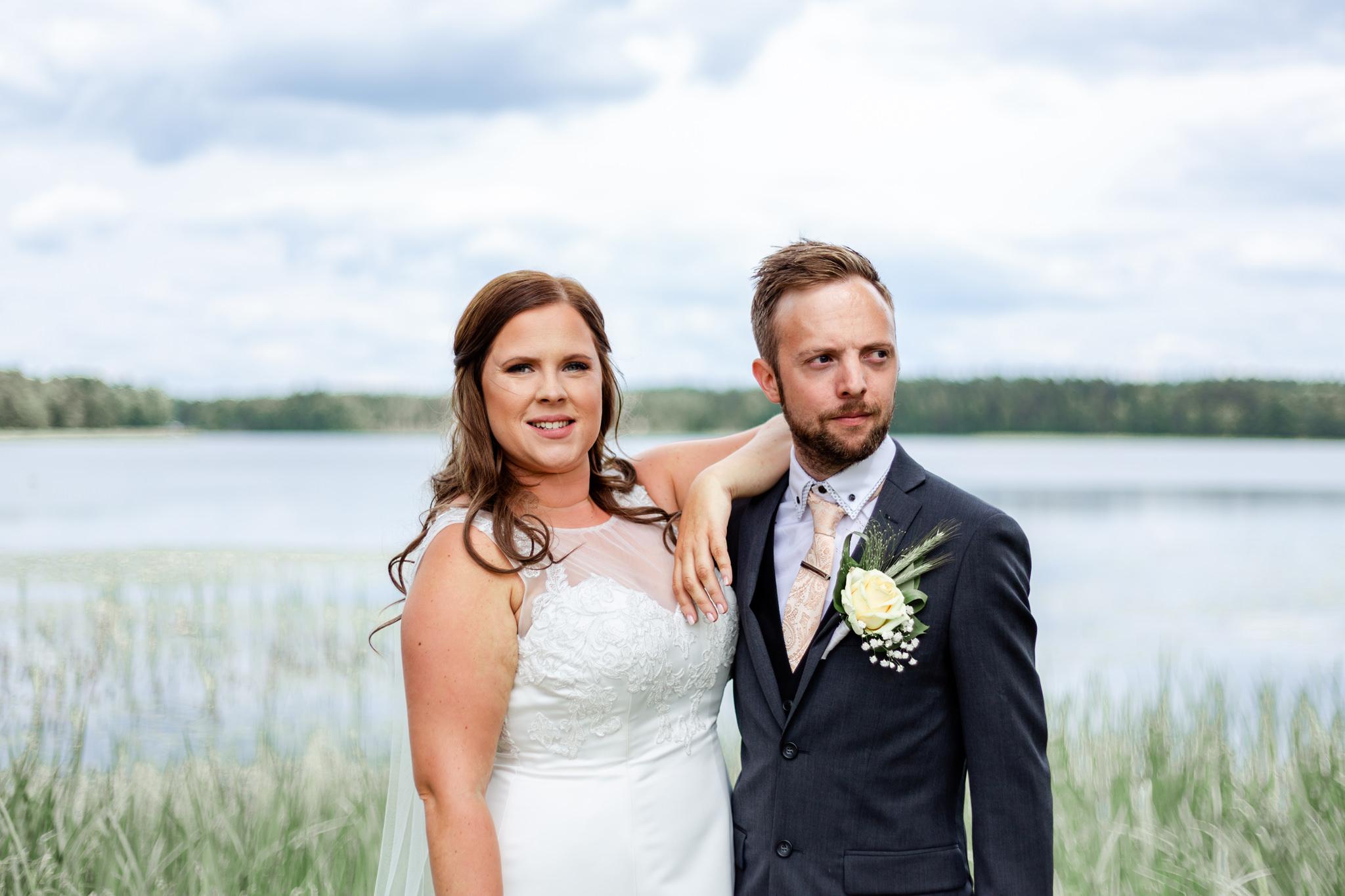 Bröllopsfoto vigsel i Norra Sandsjö