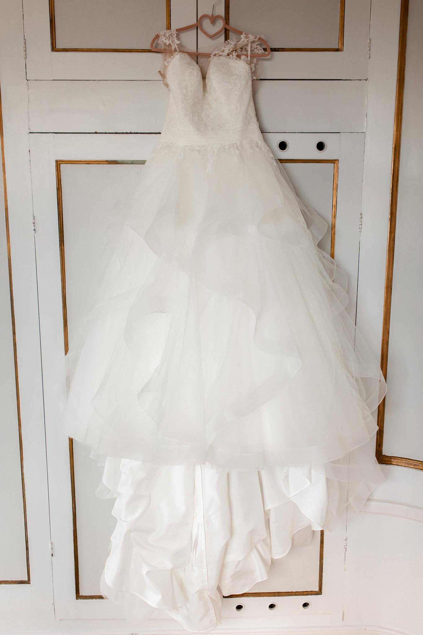 Brudklänning på Mauritzberg Slott