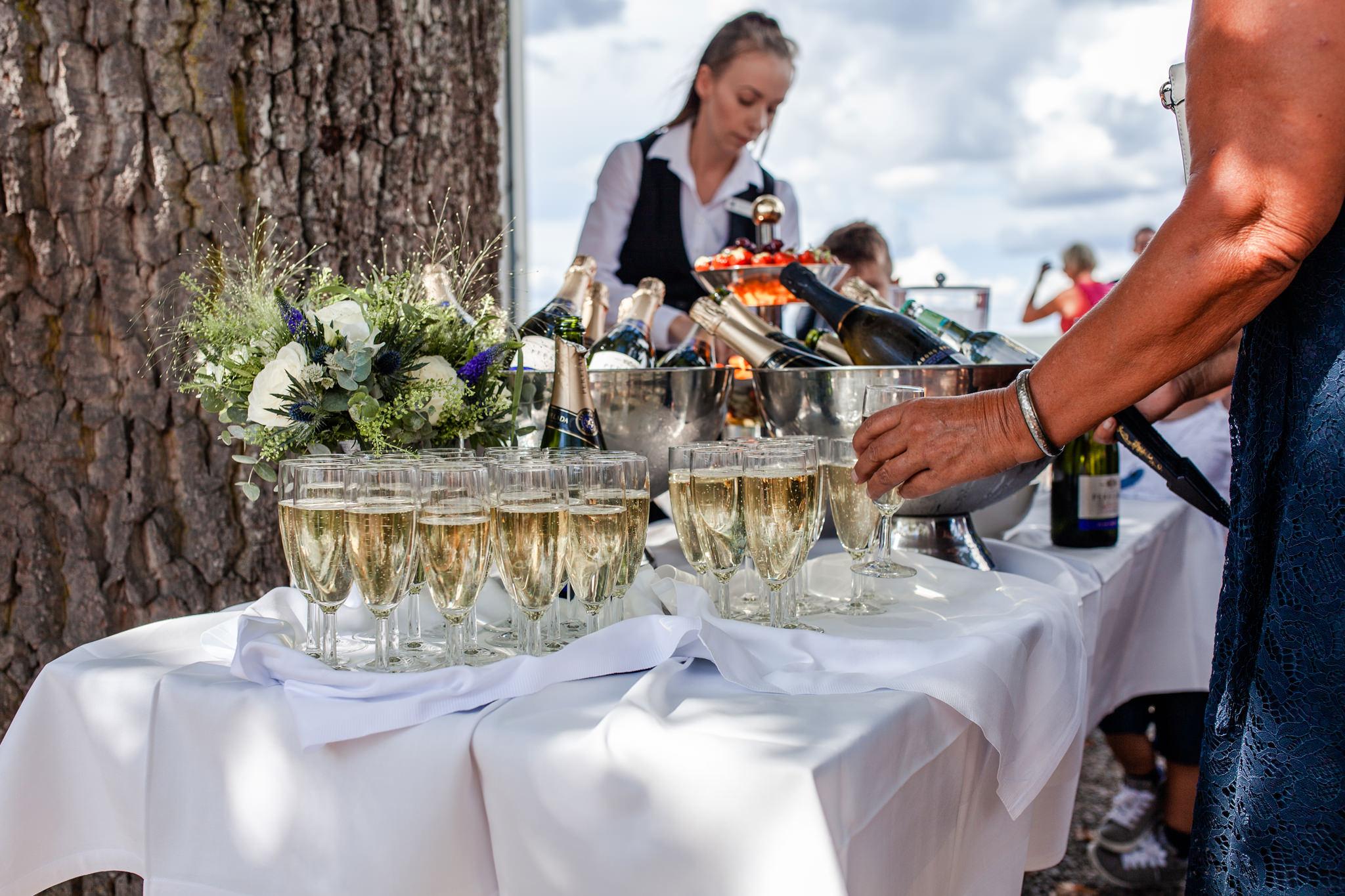 Bröllopsmingel på Mauritzberg Slott