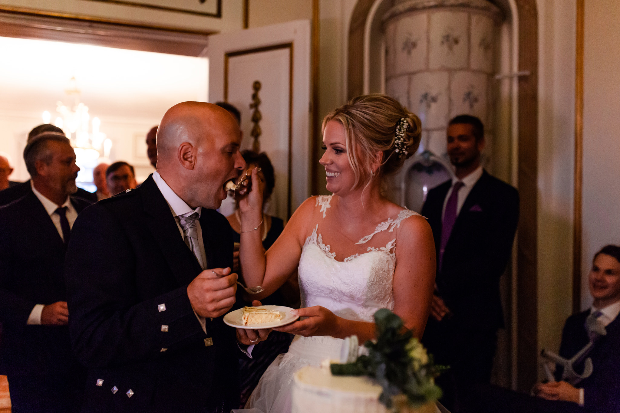 Bröllopstårta på Mauritzberg Slott