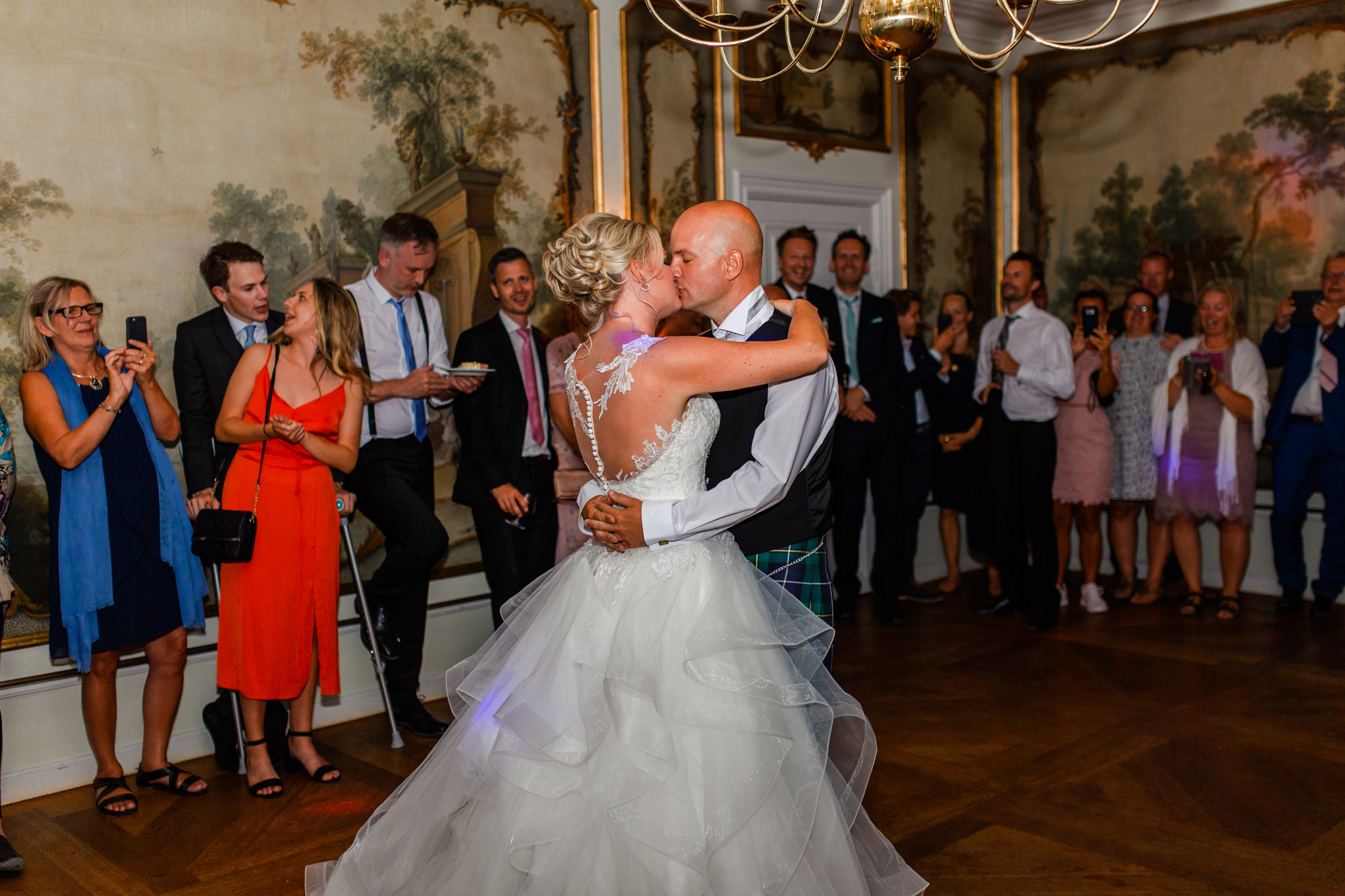 Bröllopsdans på Mauritzberg Slott