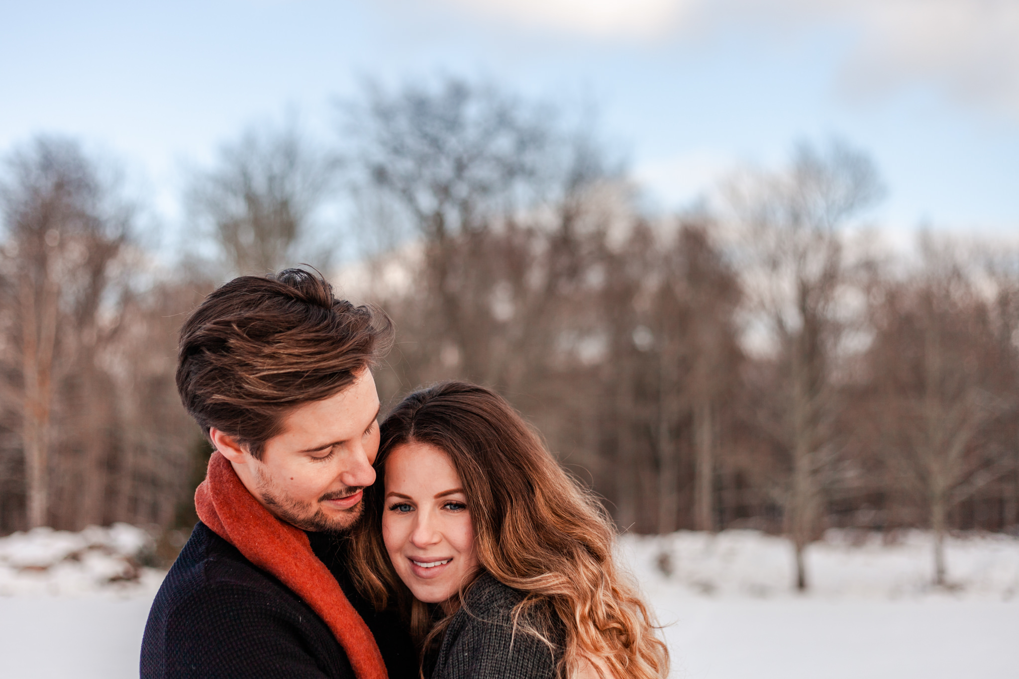 Provfotografering i snön i Småland