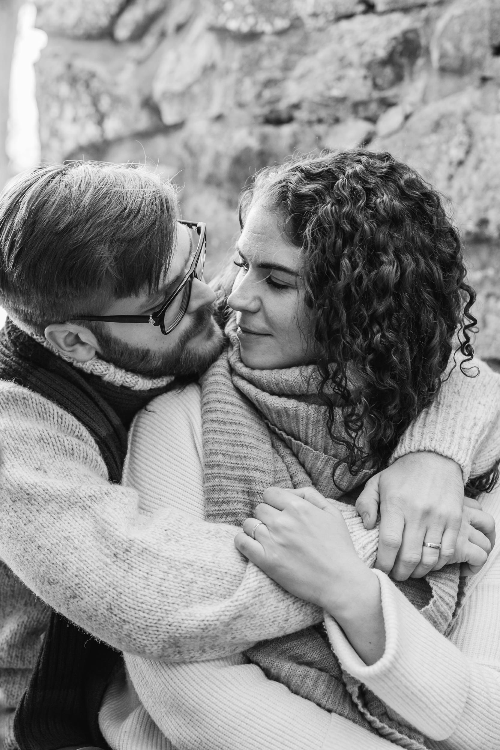 Provfotografering innan bröllop på Gotland