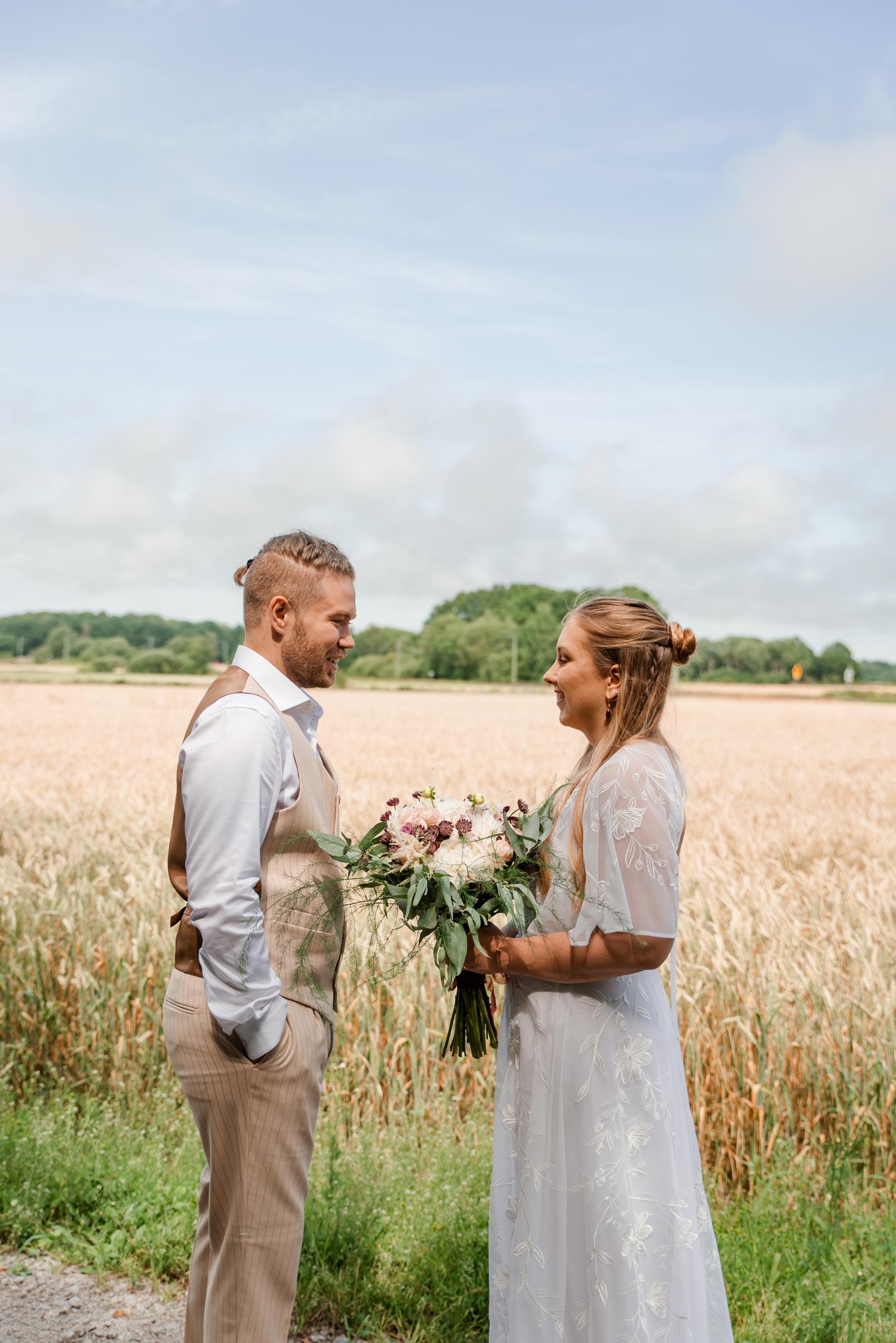 Bröllopsfotografering i Sölvesborg