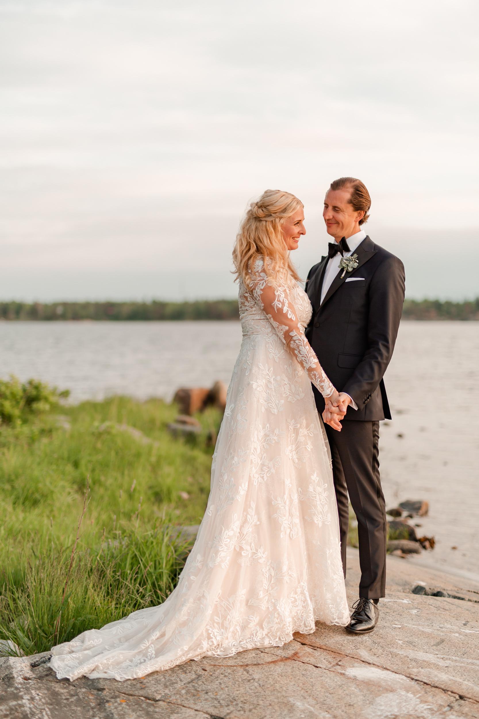 Bröllopsfotografering på Lidö