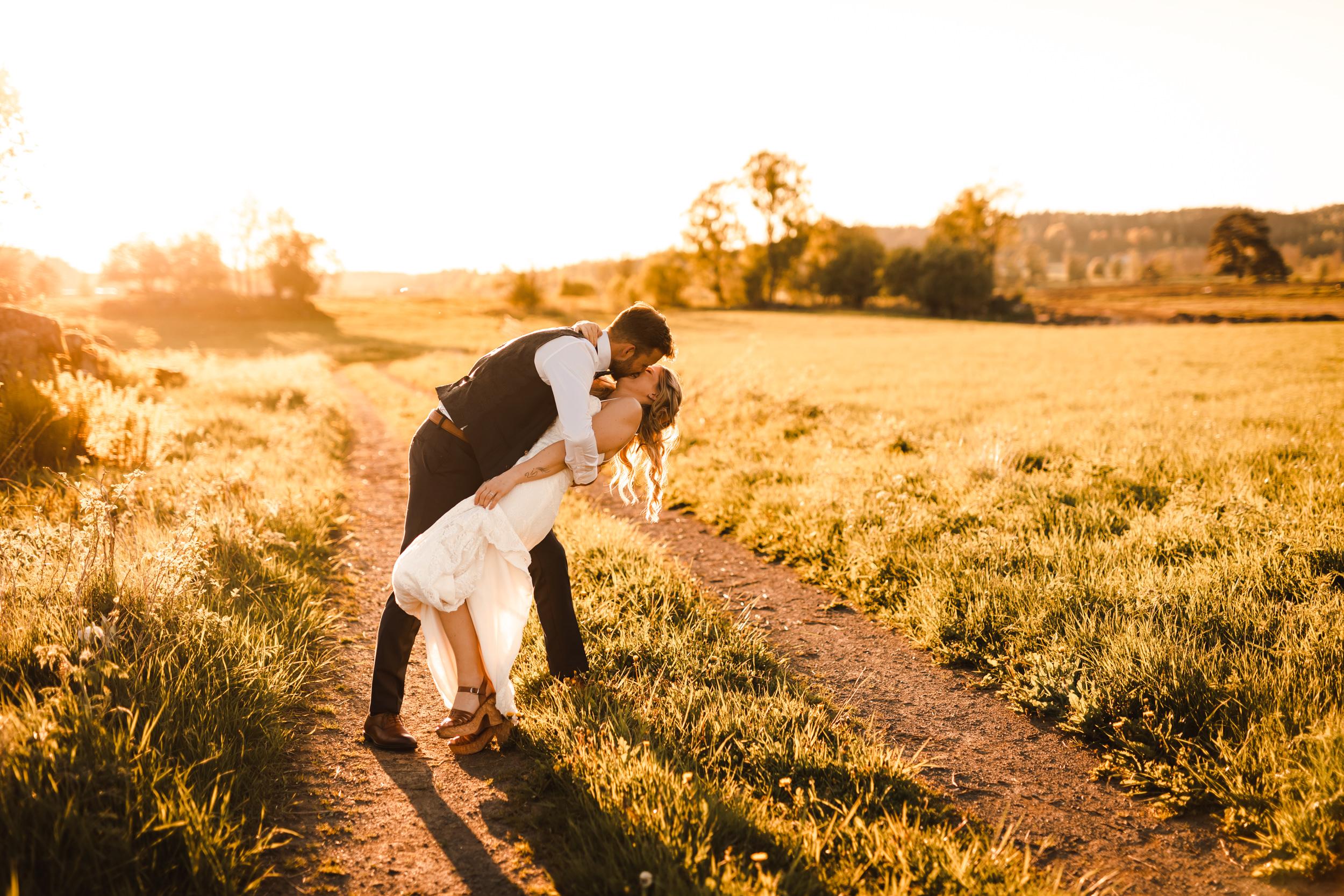 Bröllopsfoto på Tovrida Udde
